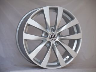 Jetta Scirocco 18 5x100 18x8 Wheels Rims with Center Caps