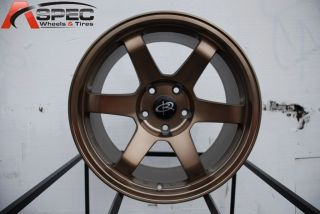 17X9.5 ROTA GRID 5X114.3 +30 FULL ROYAL SPORT BRONZE WHEEL FITS EVO8