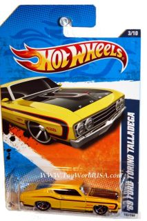 2011 Hot Wheels Muscle Mania 103 69 Ford Torino Yllow