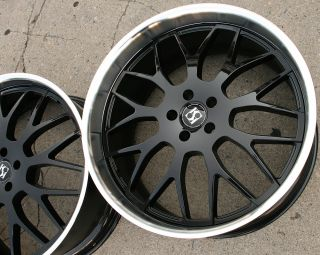 Koko Kuture Fann L5 22 Black Rims Wheels CLS500 CLS550 22 x 9 0 10 5