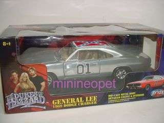 Ertl Dukes of Hazzard General Lee 1969 69 Dodge Charger 1 18 Chrome