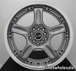 18x7 5 Gunmetal Wheels Rims adr Spade 4x100 4x4 5