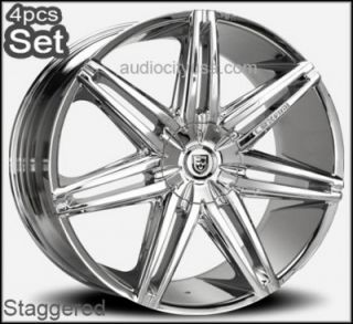 30 Lexani Johnson Wheels Rims Escalade Chevy Ford RAM H3 Silverado