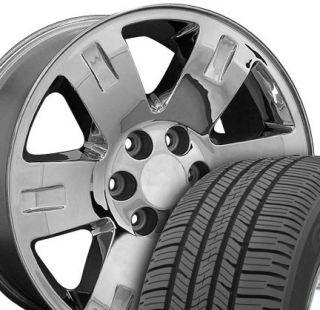 Chrome GMC Yukon Wheels Goodyear 275 55 Tires Rims Fit Cadillac Chevy
