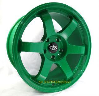 17 Rota Rims 17x9 Grid Green 02 03 WRX Legacy 04 STI