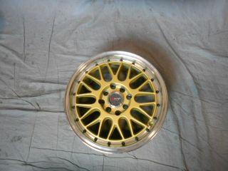 4x100 4x114 3 4 100 4 114 3 Dr 44 Gold Machined Lip Wheels Rims