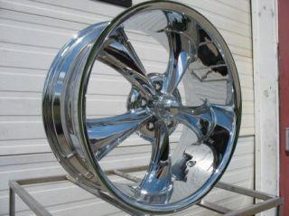20 Chrome Ridler 695 Wheels Rims 20x8 5 5x5 5x127