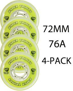 Hyper Inline Wheels Trinity Tri Pour 72mm 76a x4 Roller Hockey Indoor