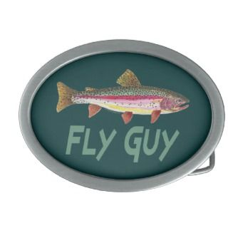 Rainbow Trout Fly FIshing Belt Buckle