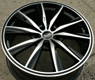 Adr Inspire 19 Black Rims Wheels Acura 3 5 RL 96 04 5x114 3 19 x 8 0