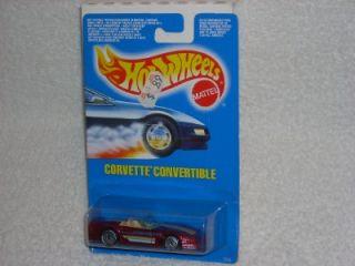 Hot Wheels 1990 91 Corvette Convertible IntL Card 7670