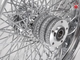 Chrome Billet Rear 250 Wide Tire Wheel 80 Spokes Fits Custom Harley