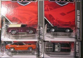 Hot Wheels 2010 Garage SET OF 4 Ferrari Dino, 70 Hemi, 56 Ford, 62