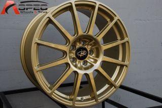 18X8 ROTA GRAVEL 5X100 +48 GOLD WHEEL FITS SUBARU IMPRAZA WRX LEGACY