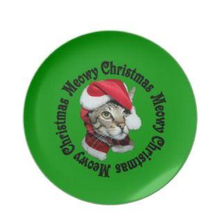 Meowy Christmas for Christmas Cookies Plates