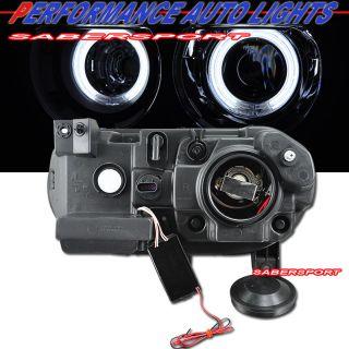 2008 2012 Dodge Challenger CCFL Halo Projector Headlights Black HID