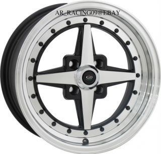15 Rota Wheels Rims Zero Plus BK Del Sol CRX Sentra SI