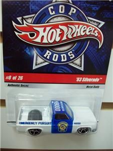 Hot Wheels Police Car Cop Rods 8 of 26