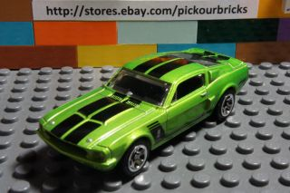 Hot Wheels Green 67 FORD SHELBY GT500 Coupe Diecast w/ black race