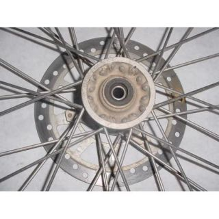 97 01 Yamaha YZ80 YZ 80 Front Wheel Tire Rim Spokes Brake Rotor Hub