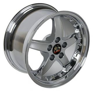 Single 17x9 Chrome Cobra R Wheel Fits Mustang® 94 04