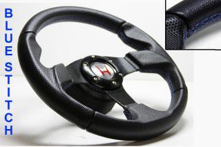 Leather Steering Wheel Hub Silver Button Honda 96 00 Civic S