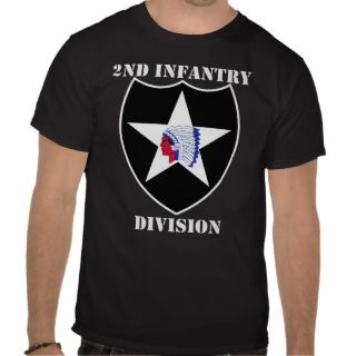 US Army 2nd Infantry Division w/White Text Tee Shirts