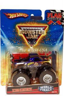 HW Monster Jam Monster Truck King Krunch Flag Ser 20