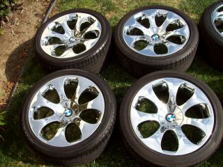 19 Factory 6 Series Chrome Wheels 645 650 M6 E63 E64 Tires Staggered