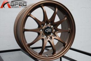 Rota Fighter 10 16x7 5x100 114 3 Sport Bronze Wheels