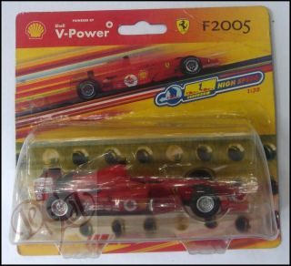 Ferrari F2005 1 38 Scale Diecast Model Toy Car Red Shell V Power