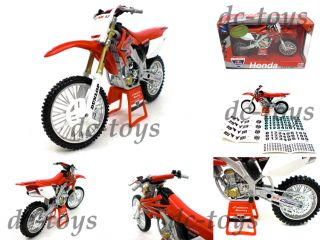 Red Bull Racing 2008 Honda CRF450R Dirt Bike 1 12 Red