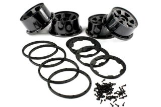 RC Wheel Kit with Beadlock Ring and Screws for HPI Rovan KM Baja 5B