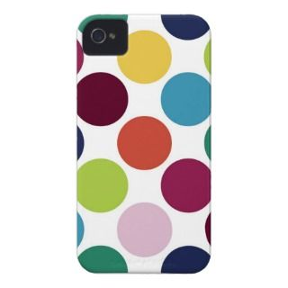 Colorful Polka Dot iPhone 4 Mate Tough™ Case iPhone 4 Cover
