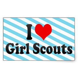 love Girl Scouts Stickers