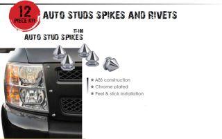 Bully TT 106 Bull Series Auto Studs ABS Chrome Spikes
