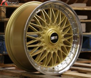 606 RS STYLE 5X100 5X114.3 +35 GOLD MACHINED LIP RIM WHEELS 5X4.5 NEWS