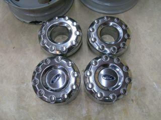 2008 Ford F450 Polished Aluminum Rims 19 5 Center Caps