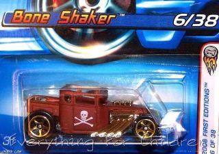 Hot Wheels Bone Shaker New Diecast Car 6 2006 1st Ed