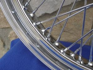 21X3.25 60 SPOKE FRONT WHEEL FOR HARLEY SOFTAIL FXST, DYNA WIDE GLIDE