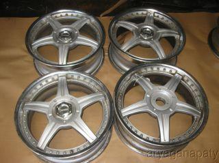 Racing Hart MS 2 Piece Wheels Rims 17Set Need Repairs 4x100 4x114 3
