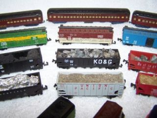 Postage Stamp Train Lot 107 Pieces Track Train Cars Engines