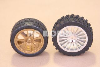 RC 1 10 Car Tires Wheels Rims Package Off Road Dirt