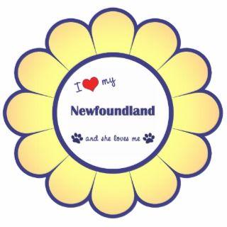 Love My Newfoundland (Female Dog) Photo Sculpture
