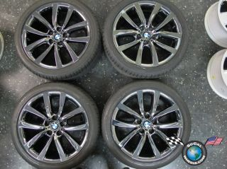 BMW 528 535 550 Factory 19 Wheels Tires Rims OEM Black PVD Run Flats