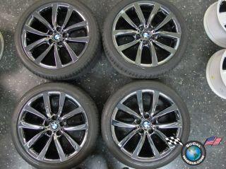 BMW 528 535 550 Factory 19 Wheels Tires Rims OEM Black PVD Run Flats