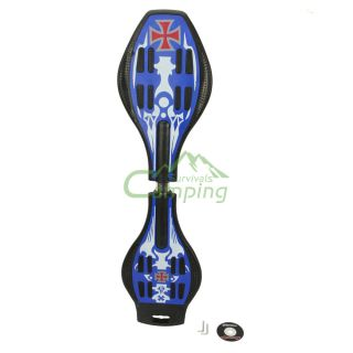 New Pro Double White Wheels Skateboard Steel Truck Dark Blue Black C04