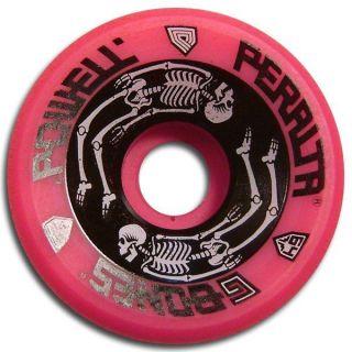 Powell Peralta G Bones Skateboard Wheels 64mm 93A Pink