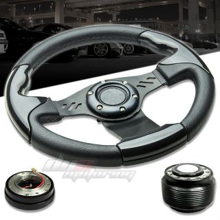 3P Combo Quick Release Hub T390 Aluminum Racing Steering Wheel Accord