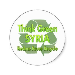 Think Green Syria Stickers